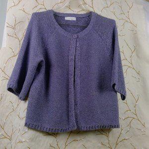 Lucy & Laurel Medium Plum Hand-Knit Sweater